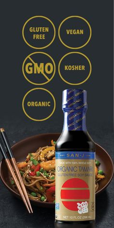 Is your soy sauce gluten-free, non-GMO, vegan, kosher, and organic? Upgrade to the most trusted authentic Tamari Soy Sauce brand.
