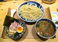 Deluxe noodles: The rich sauce for the tsukesoba dipping noodles at Kazami is…