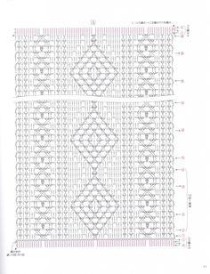 Crochet Mandala Pattern, Crochet Triangle, Crochet Square Patterns, Crochet Cross, Crochet Stitches Patterns, Crochet Diagram, Crochet Chart, Crochet Home, Stitch Patterns