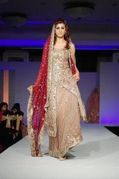 Mehdi's Bridal Collection Red & Beige