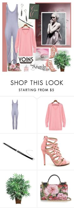 """Yoins 167."" by carola-corana ❤ liked on Polyvore featuring Nearly Natural, Dolce&Gabbana, Jimmy Choo, yoins, yoinscollection and loveyoins"