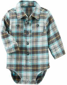 Baby Boy Plaid Bodysuit    Baby Boy Dress Clothes    Baby Clothes    af