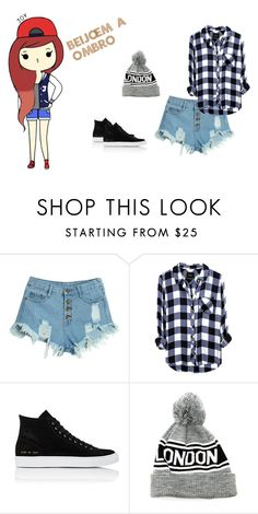 """""""kiss on the shoulder"""" by fofalinda on Polyvore featuring moda, WithChic e Common Projects"""