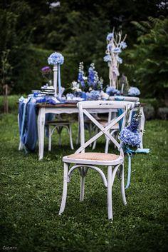 Blue Wedding Table, Blue Decoration, Blue Deco, Blaue ... Vintage Gartenlaternen Von Etsy Bringen Einen Romantischen Hauch