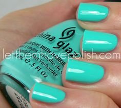 Next on the must-wear list. China Glaze Aquadelic from the Electropop collection.