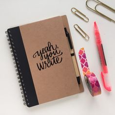 Give yourself a little motivation with this eco-friendly notebook.