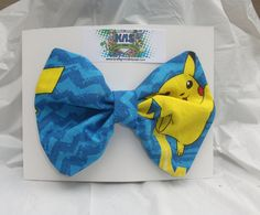 Pikachu  Hair Bow   Pokemon by KraftyNerdSquad on Etsy