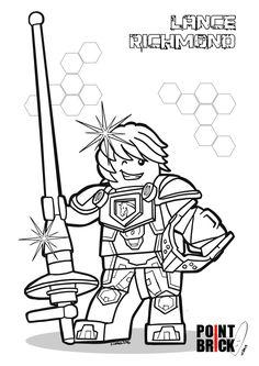 Disegni da Colorare LEGO Nexo Knights - Lance Richmond - Clicca sull'immagine per scaricarla gratuitamente!