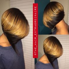 Inverted bob hairstyles are in style for a long period. Some of celebrities prefer to cut off their long hair into chin-grazing bobs hairstyle and the longer My Hairstyle, Pretty Hairstyles, Bob Hairstyles, Relaxed Hairstyles, Bob Haircuts, Black Hairstyles, Hairstyle Ideas, Love Hair, Great Hair