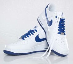 separation shoes 4583e 4b9ef Nike Air Force 1 Low White   Old Royal Nike Air Force Ones, Air Force