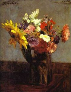 Bouquet of Flowers - Henri Fantin-Latour