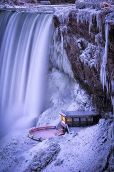 Niagara Falls, Canada. How cool is this frozen photo