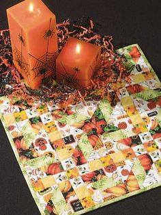 Quilting - Autumn - Pumpkin Patch III Quilted Candle Mat Pattern