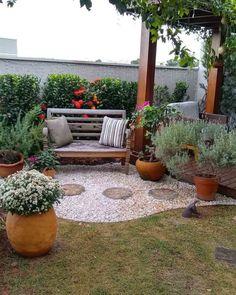 Backyard Patio Landscaping Tutorials 55 New Ideas Simple Garden Designs, Small Garden Design, Backyard Patio, Backyard Landscaping, Backyard Landscape Design, Beautiful Gardens, Amazing Gardens, Garden Cottage, Dream Garden