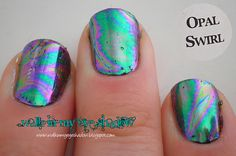 Walk In My Eye Shadow: Foil Focus Friday: Opal Swirl