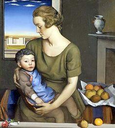 Achille Funi (Italian, 1890 - 1972)  Maternità, 1921