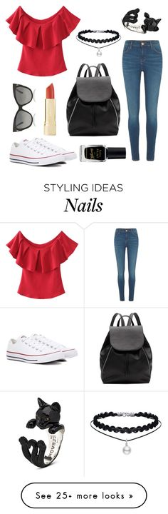 """Untitled #43"" by cicilia-howell on Polyvore featuring River Island, Converse, Witchery, Barry M and Tom Ford"