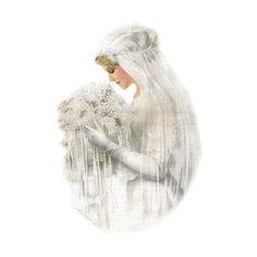Vintage Wedding Day by EvaAgnes on Etsy Vintage Bridal, Vintage Girls, Vintage Love, Vintage Beauty, Vintage Prints, Vintage Images, Vintage Outfits, Victorian Bride, Victorian Women