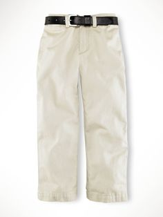 Polo by Ralph Lauren - Suffield Pant - Flat Front - Basic Sand - $45.00 - sizes:  2T, 3T & 4T http://shop.youngideasms.com/store/p1544/Polo_by_Ralph_Lauren_Childrenswear.html