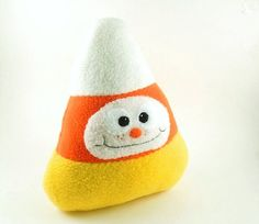 Halloween Cuddly Candy Corn Stuffed Animal by bubbletime on Etsy, $20.00