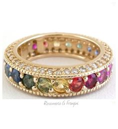 Rosamaria G Frangini | MY Colorful Jewellery | TJS | Rainbow eternity band