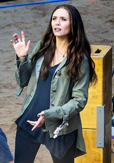 """Elizabeth Olsen on the set of """"Captain America: Civil War"""""""