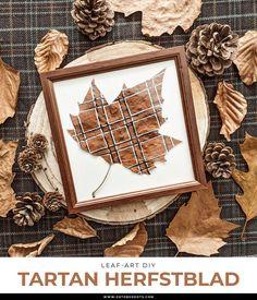 Fall Diy, Leaf Art, Tartan, Frame, Home Decor, Picture Frame, Decoration Home, Room Decor, Plaid