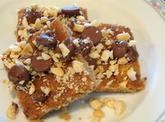 So delicious looking...I gotta try these!  Peanut Squares (Peanut Brittle Cookies) Recipe