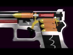 3D Glock Semi- Automatic Pistol (Function Animation) - YouTube