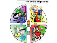 The Whole Brain Model  • Four quadrant metaphoric model  • Preferred modes of thinking, learning and  working  • Based on ...