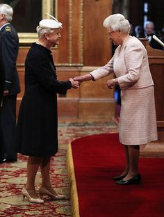 Angela Lansbury's 'proud day' as she is made a Dame by Queen Elizabeth at Windsor Castle. Angela Lansbury joins Dame Maggie Smith and Dame Judi Dench.