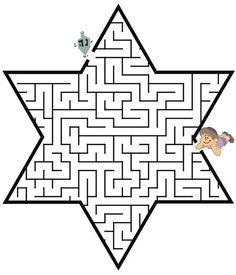 dreidel through the star of David shaped maze to the little boy maze Hanukkah For Kids, Hanukkah Crafts, Feliz Hanukkah, How To Celebrate Hanukkah, Hannukah, Happy Hanukkah, Menorah, Jewish Celebrations, Hanukkah Traditions