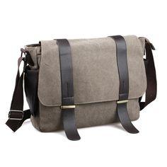 a40bf32ba455 AUGUR Men Bag Shoulder Leather And Canvas Business Messenger Bag