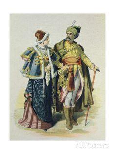 eusebio-planas-costumes-of-the-17th-century-polish-nobility-1885.jpg (366×488)