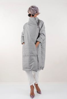 Wool Quilted Puffer Coat With Front Pocket Winter Extra Warm Fall Fashion Outfits, Cool Outfits, Autumn Fashion, Casual Outfits, Elisa Cavaletti, Iranian Women Fashion, Fashion Corner, Denim Coat, Classic Style Women