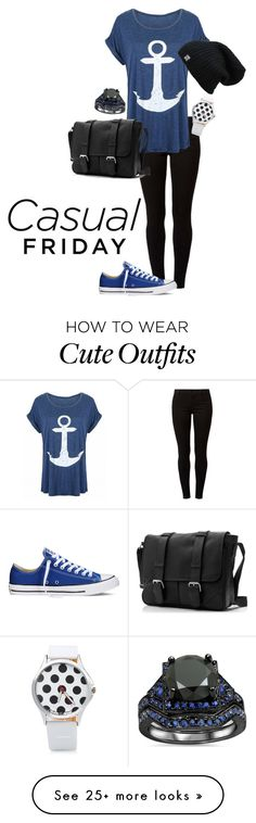 """Black & Blue"" by snm1202 on Polyvore featuring Dorothy Perkins and Converse"