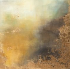 Abstract Painting Gold Leaf Art Aerial Storm in door ErinEliseLaughs