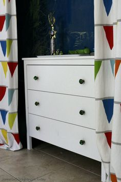 Add fun knobs to an Ikea Koppang dresser || Delighting in Today