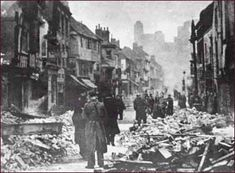 Far Gosford Street after the Coventry Blitz