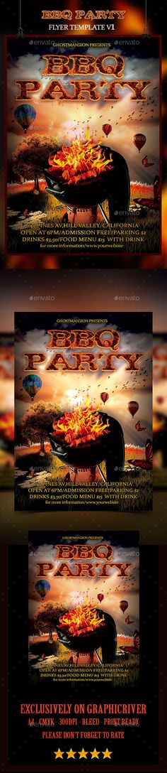 Christmas Bbq Flyer  Flyer Template Christmas Flyer And Graphics