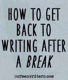 this says Teen Writers, but it will work for anyone.
