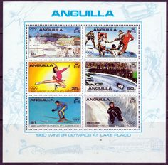 Anguilla 1980 Winter Olympics Miniature Sheet Fine Mint SG MS395 Scott 380a Other Commonwealth stamps here