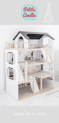 Wooden Dollhouse, Wooden Dolls, Ideal Toys, Doll House Crafts, Doll House Plans, Minimalist Home, Kids Furniture, Kids And Parenting, Diy For Kids