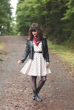 Lake Sylvia by Delightfully Tacky, via Flickr    I have a dress like this and a lovely leather jacket. This. Is. Happening. (Even if it is just for class).