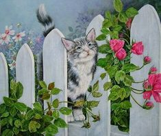 Shirley Deaville / кошка, кот, живопись, художник