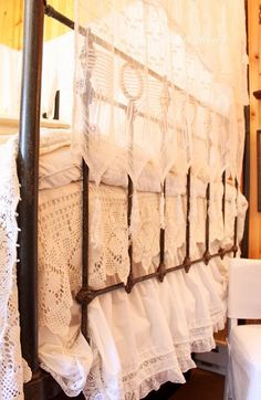 layering linens...  Use my tall window at shop.. Also for window display