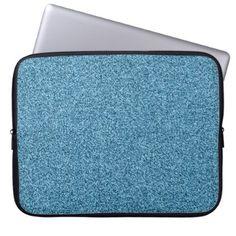 Teal faux glitter laptop sleeve - glitter glamour brilliance sparkle design idea diy elegant
