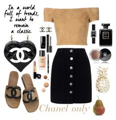 """Chanel only👛"" by anastasia-toska on Polyvore featuring Alice + Olivia, Chanel, Crate and Barrel, Miss Selfridge and Lumière"