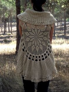 Crochet Circular Vest Pattern PDF Instant Download Mandala