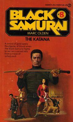 Black Samurai 8 - book cover of The Katana Book Cover Art, Comic Book Covers, Comic Books, African American Movies, Ving Rhames, Samurai Art, Afro Samurai, Pulp Fiction Book, Black Comics